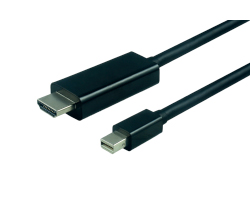 Roline VALUE mini DisplayPort kabel, mini DP M na UHDTV M, 1.0m